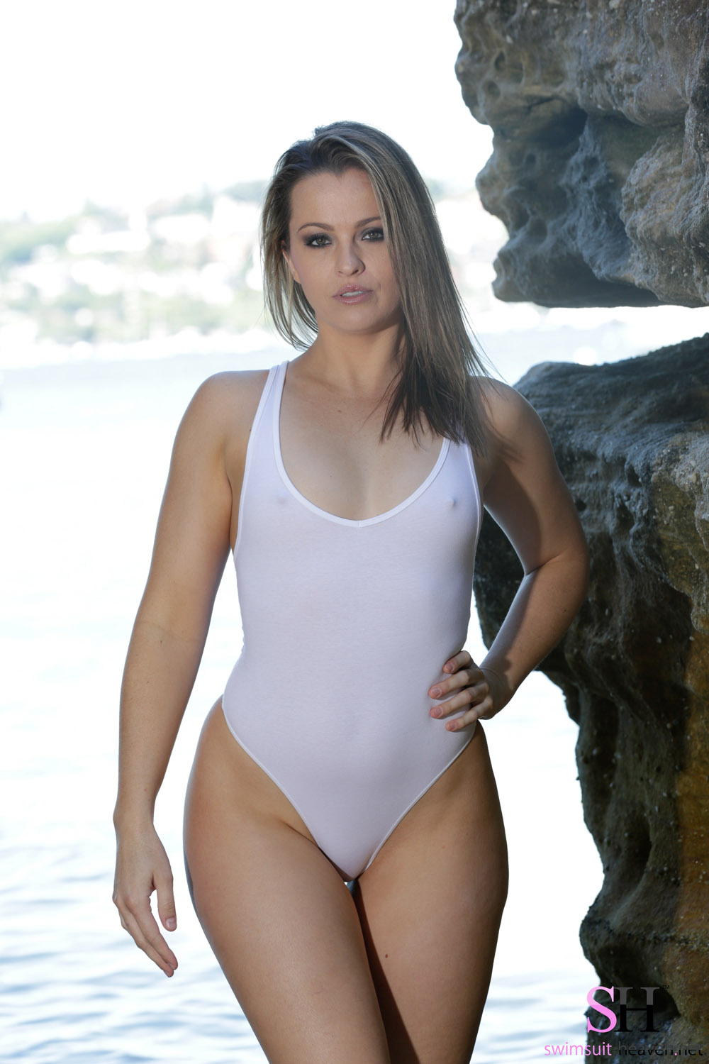 pussy one piece bathing suit