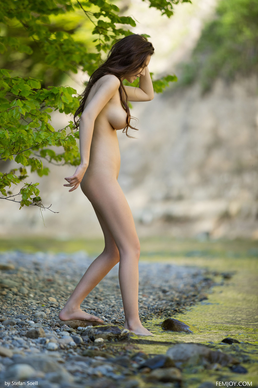Enjoying nude