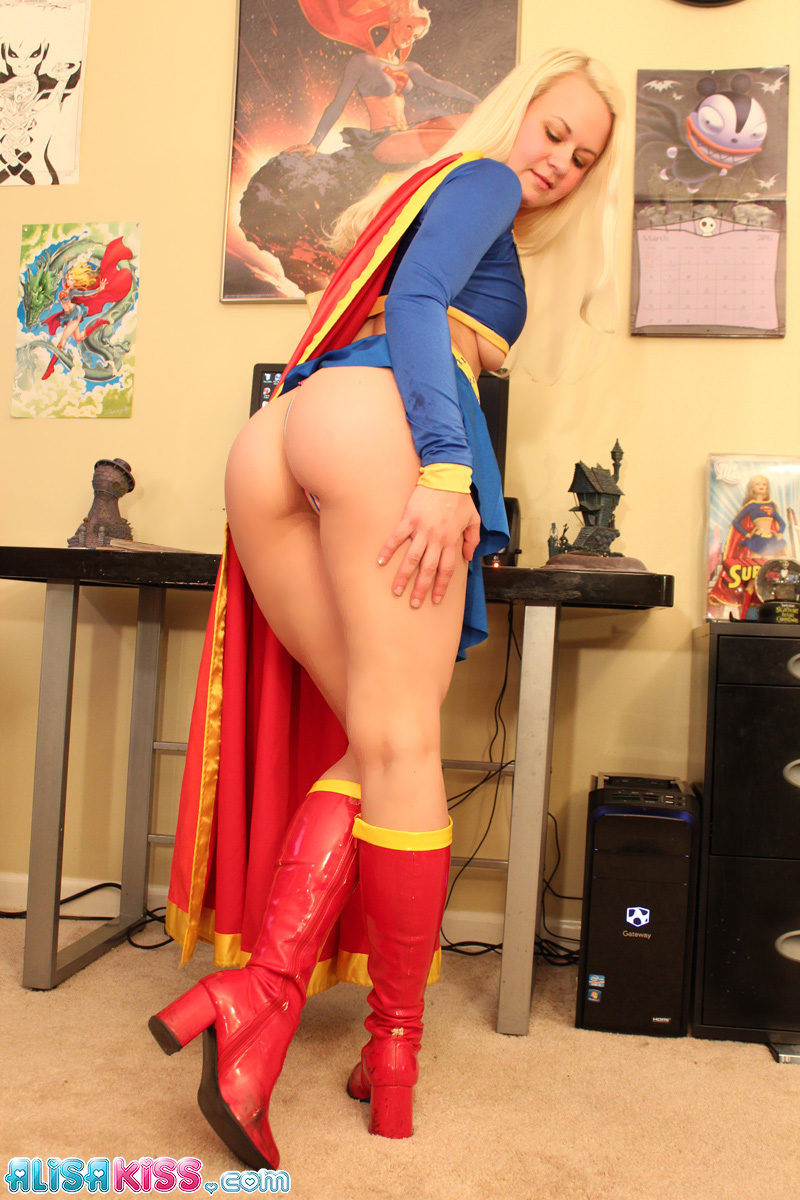 Delightful Supergirl hot and naked