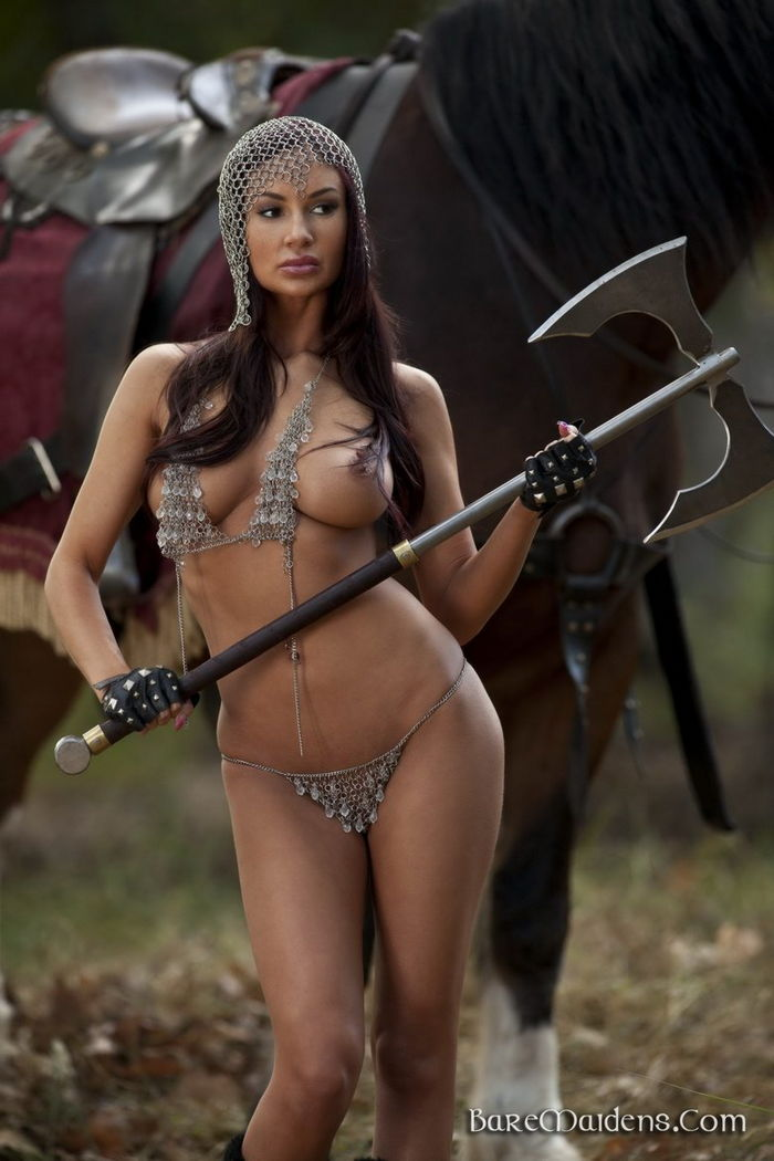 Sexy naked female warriors idea and
