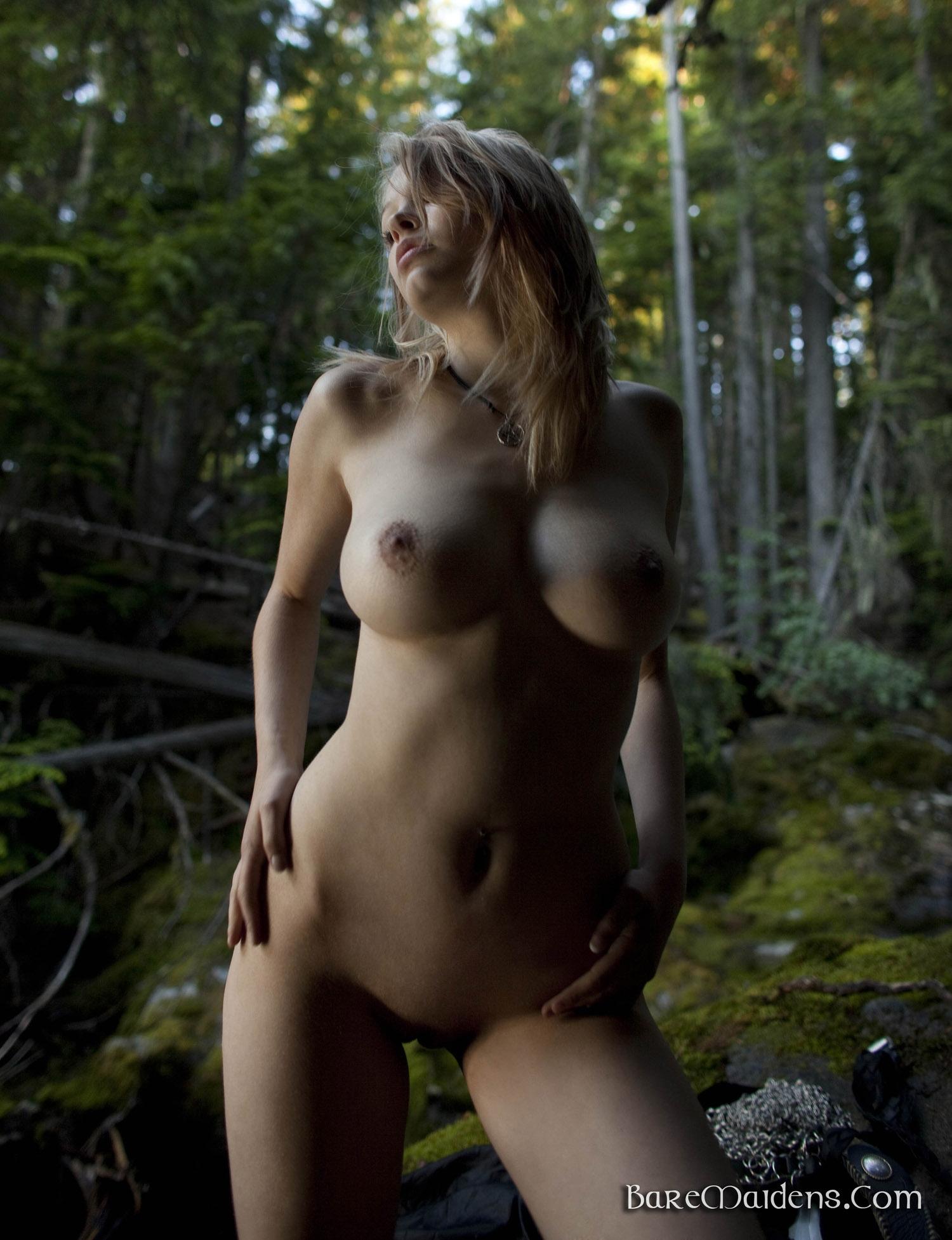 A naked girls boobs