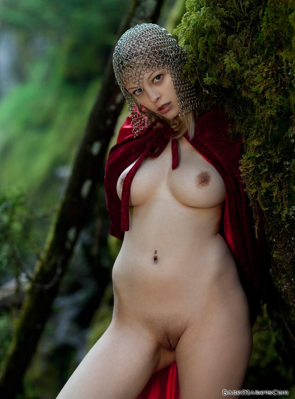 nude fantasy girl warrior
