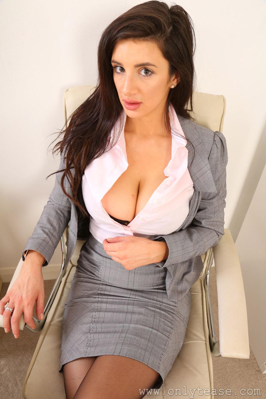 Secretary strip nude