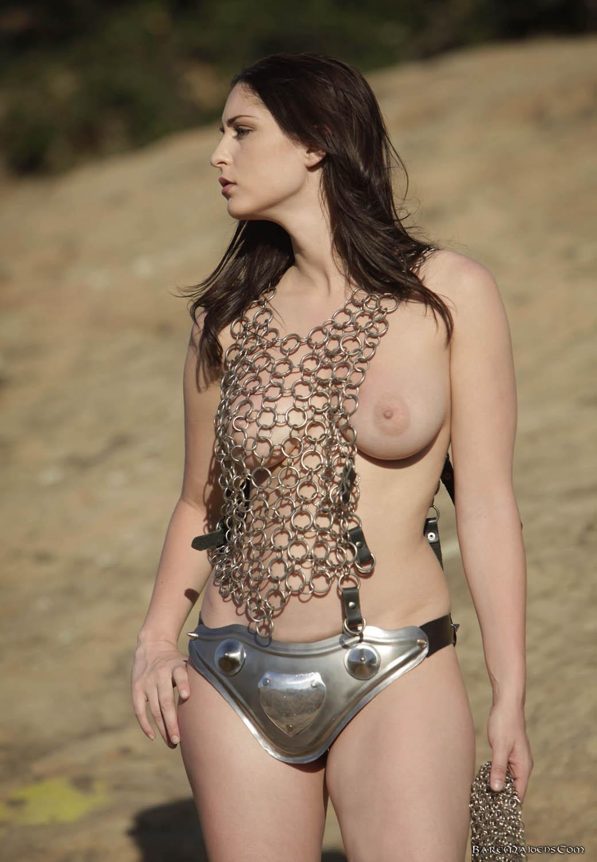 Sexy naked girl armor video sexy clip