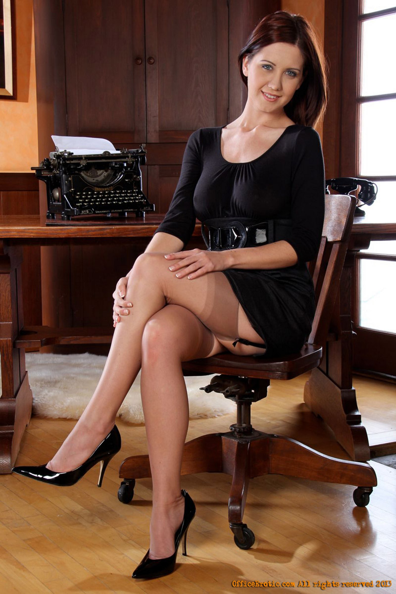 Thank for real amateur secretary in stockings