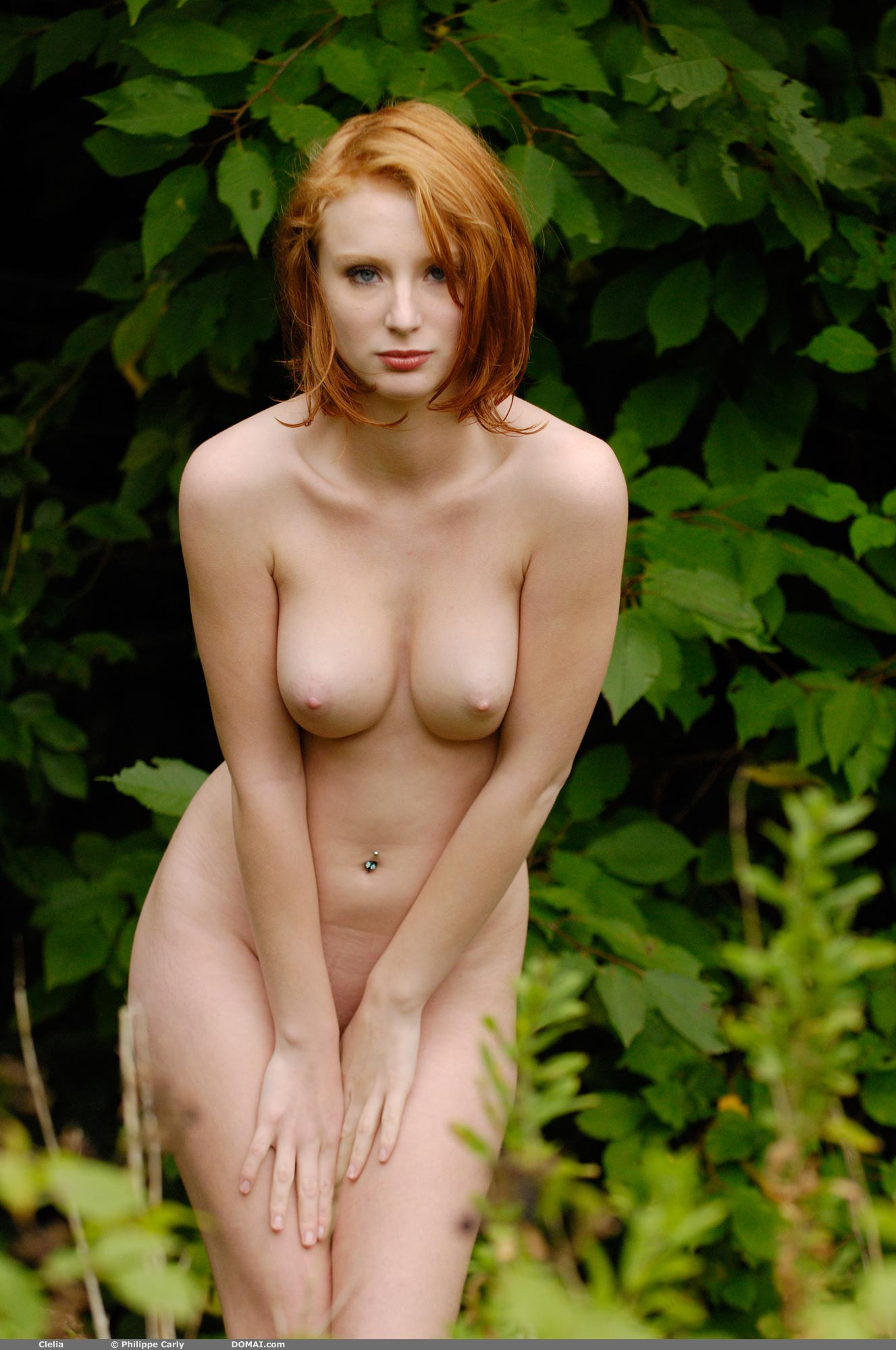 nude and sexy ginger women