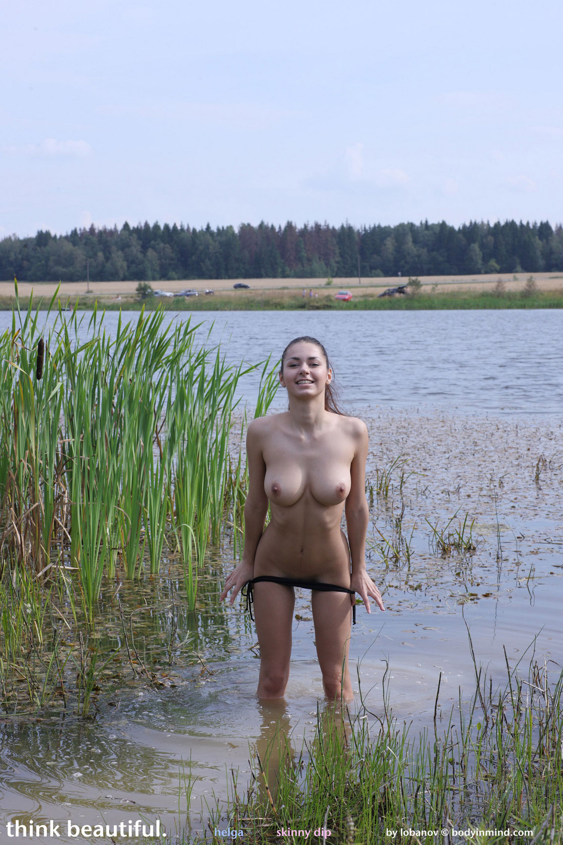naked woman spread eagle oral sex