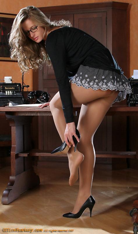 stockings legs Sexy heels secretary