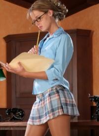 Think Fantasy plaid skirt sex join