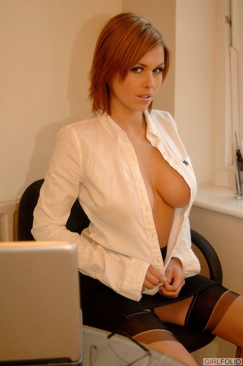 Nude female boss