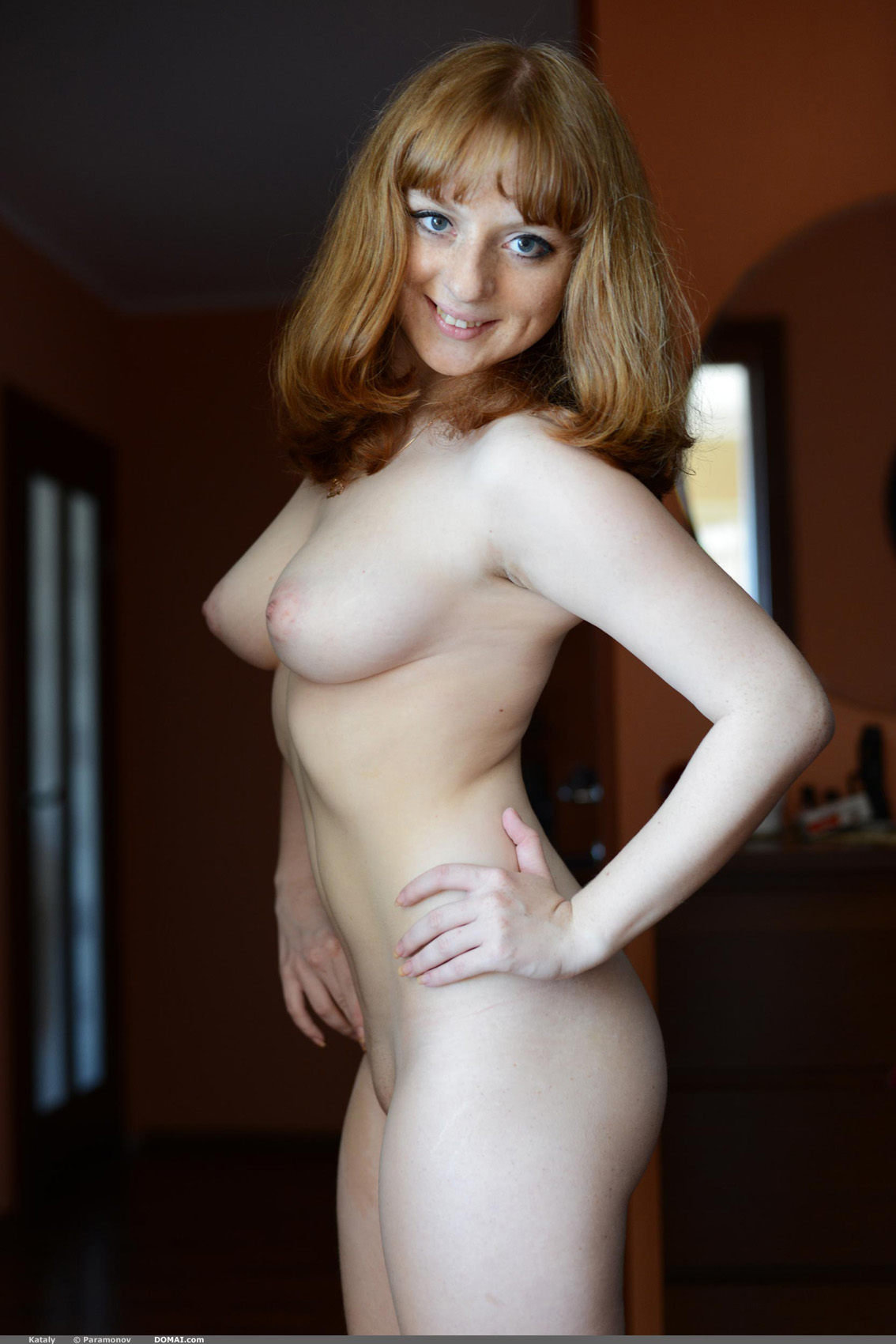 The most beautiful redhead nude