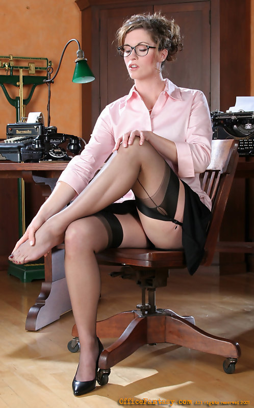 Hot secretary strip