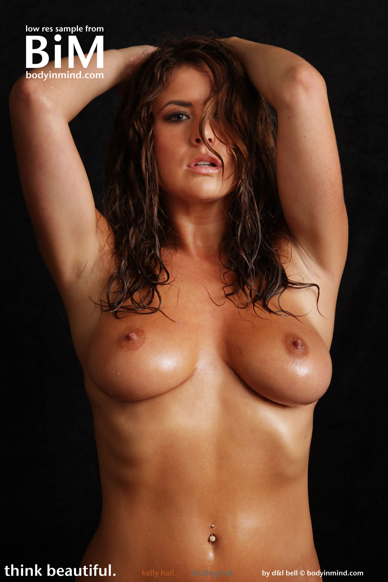 naked wet woman body