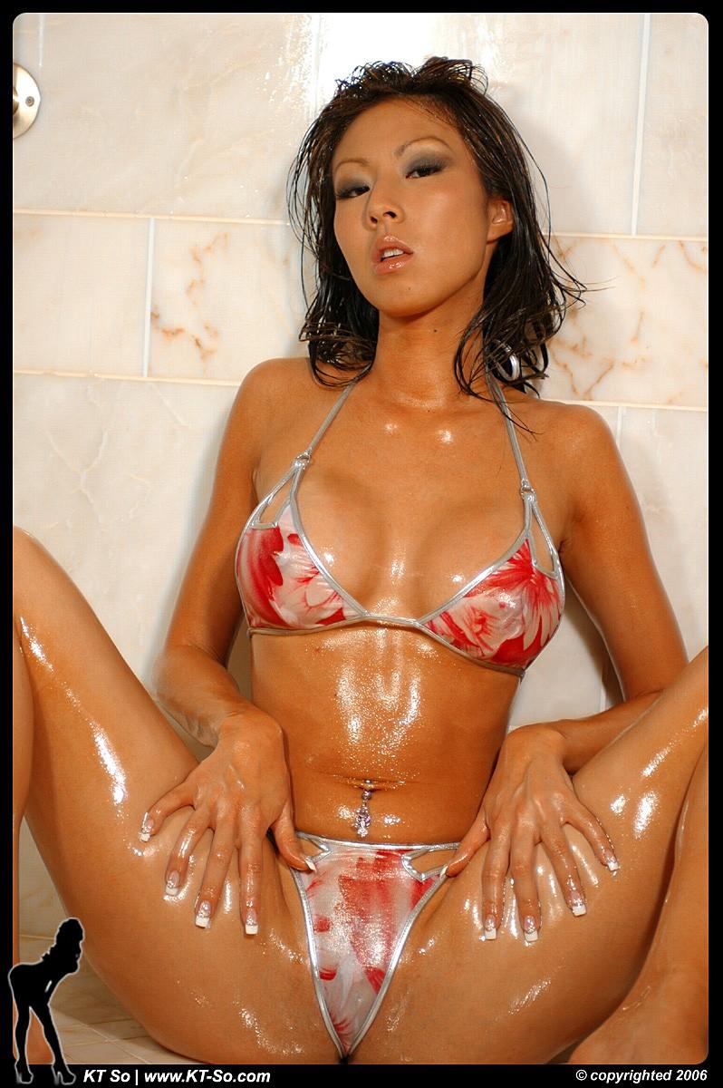 Oiled bikini