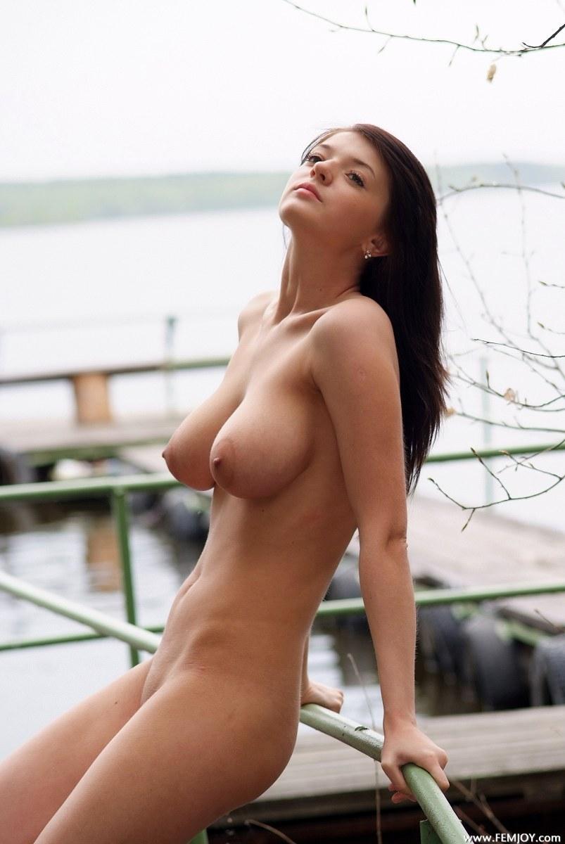 Skinny topless women