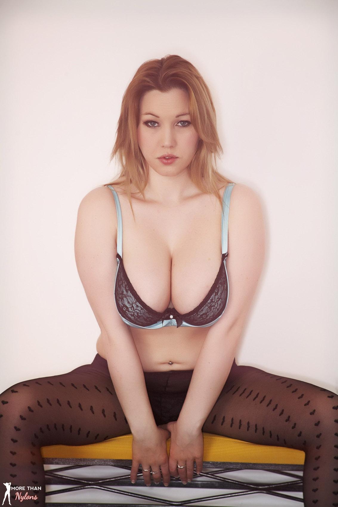 Lyla Ashby Frilly Blue Panties