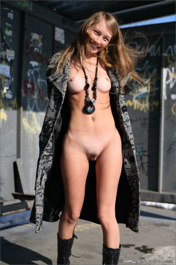 Share your Naked and nude at a bus stop