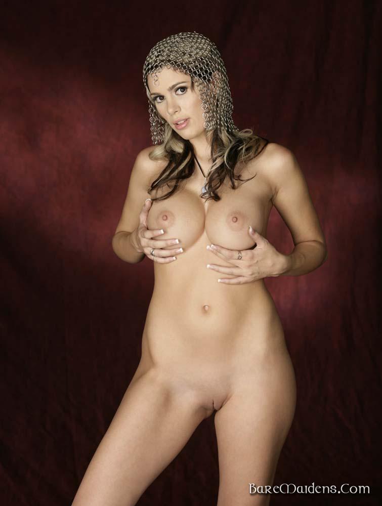 Shopping girl nude mall