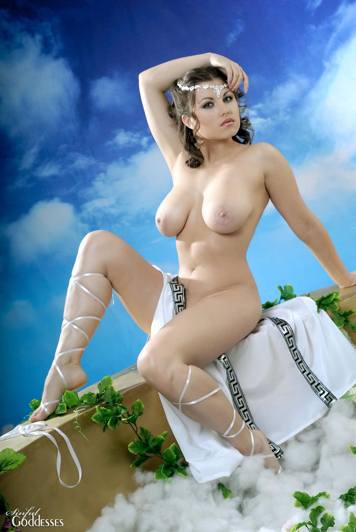 What? Girl nude greek goddess costume