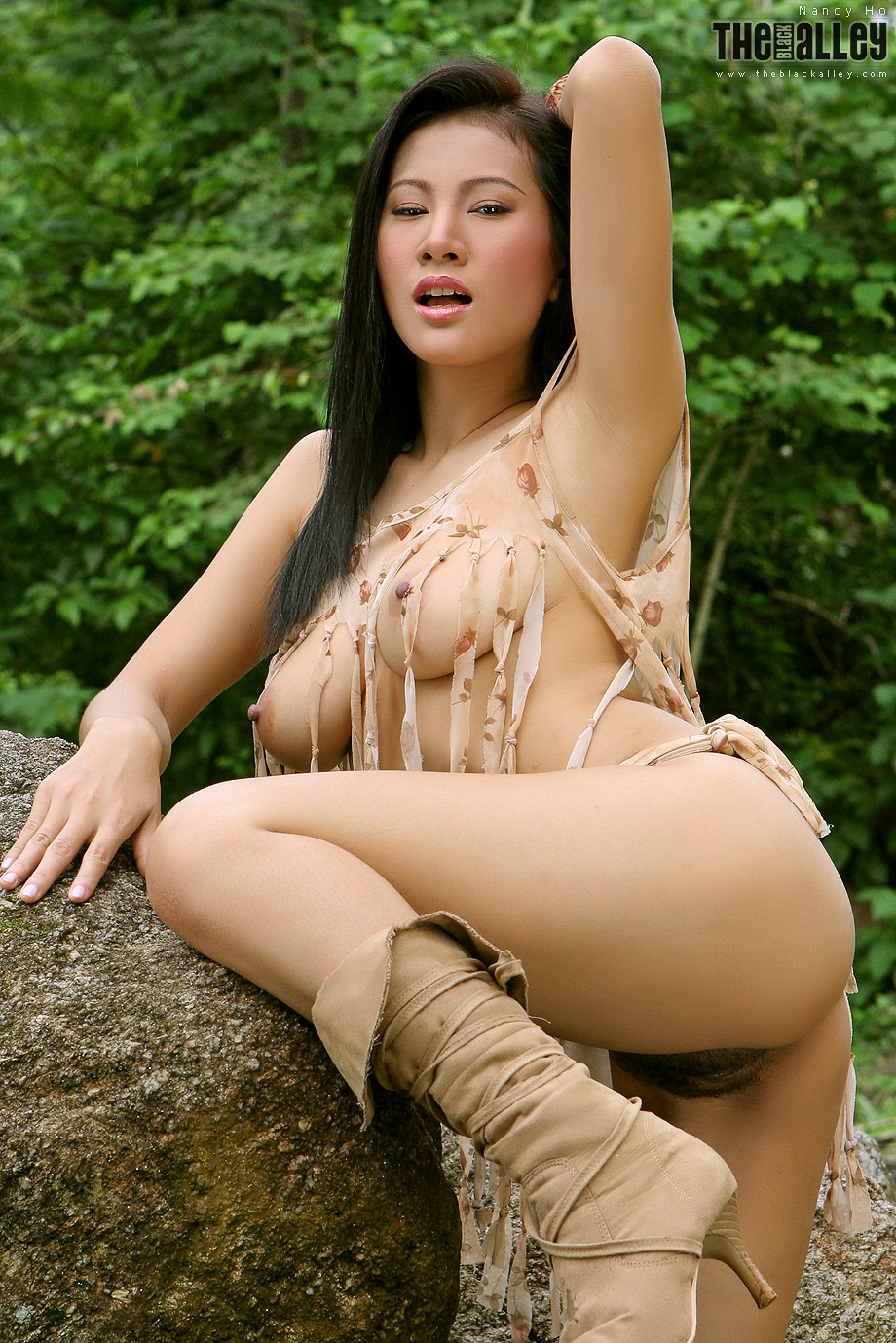 Not Busty asian nude outdoors can not