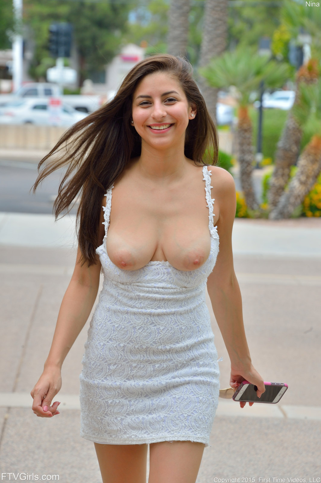 Ftv wearing a very short dress that show pussy body! Thanks!