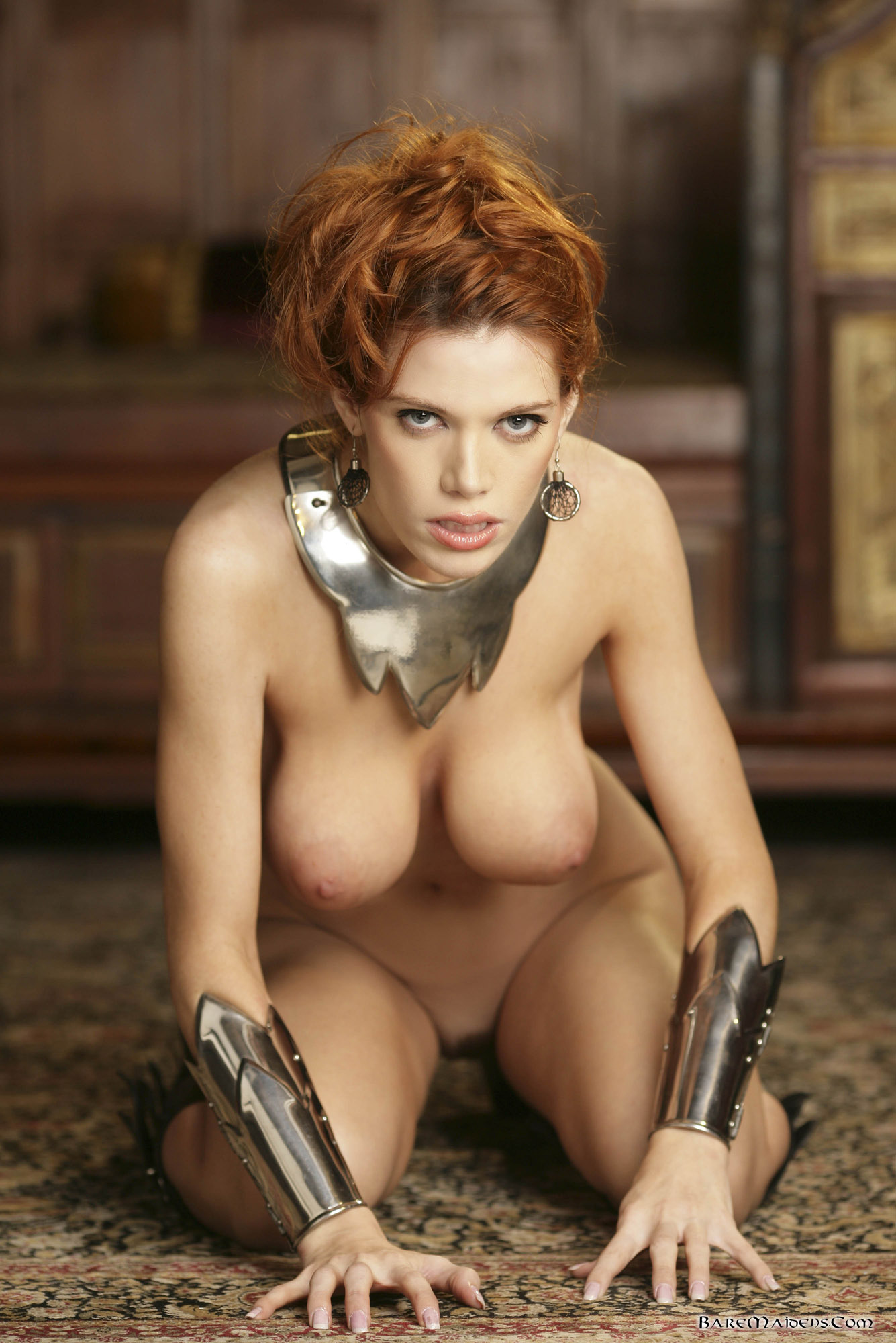Sexy redhead bare maidens queen