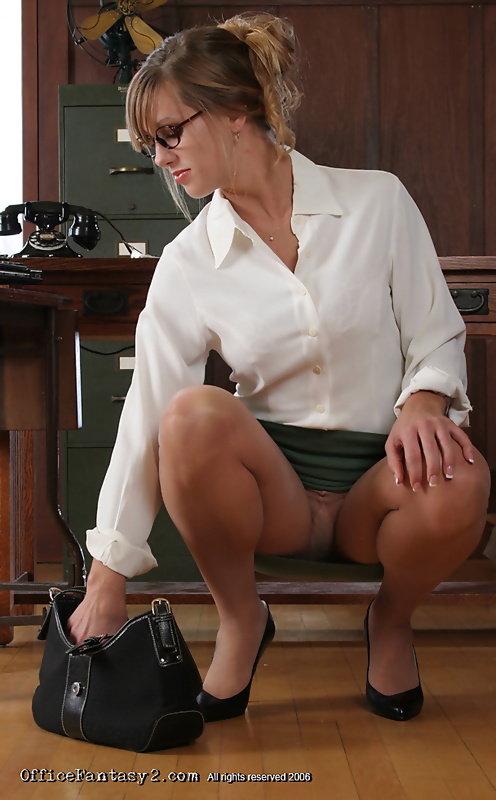 Upskirt at office