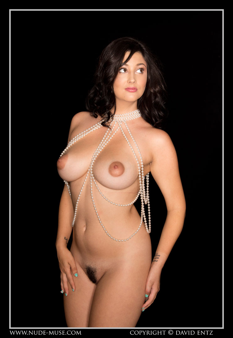 Erotic female nude pearls can
