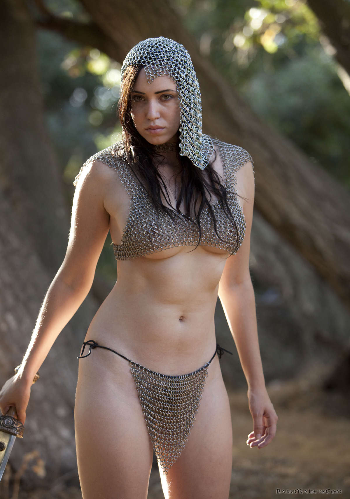 Nude girl in chainmail hardcore girls next