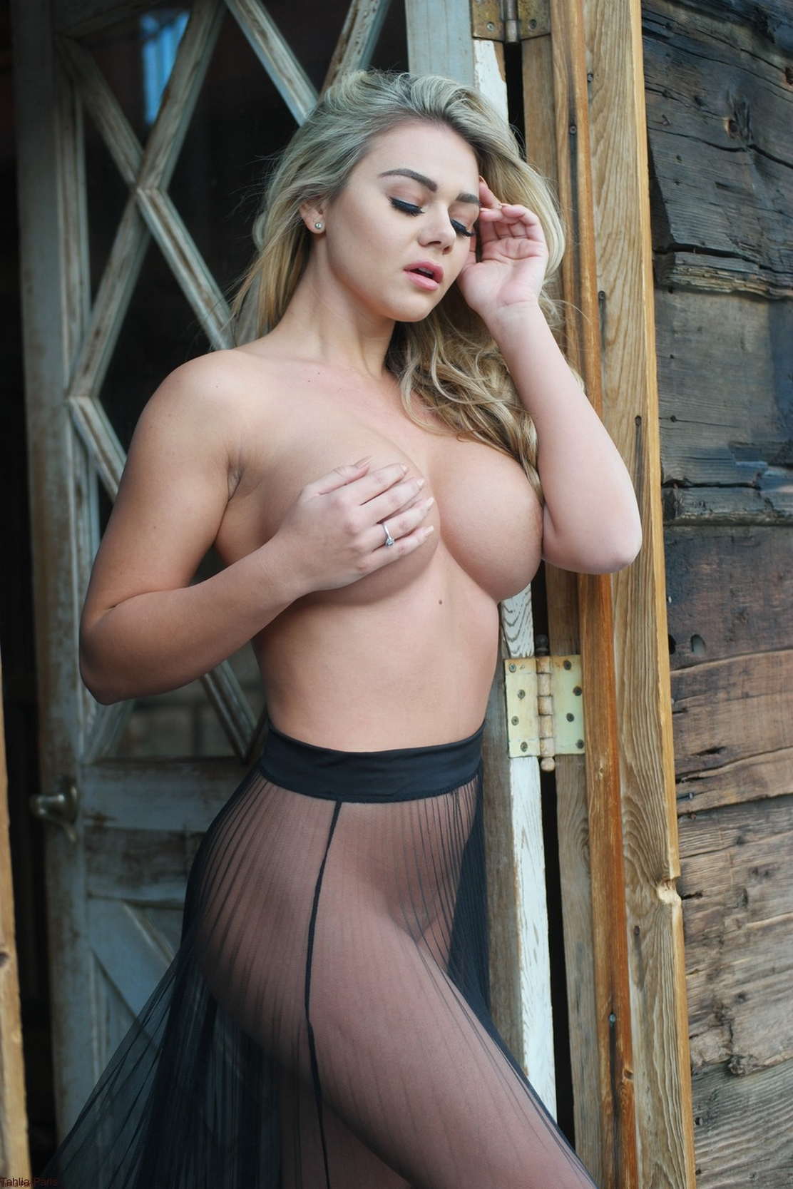 Hot blonde country girl naked