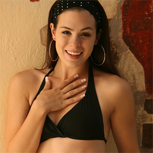 Abby Brooks Black Bikini