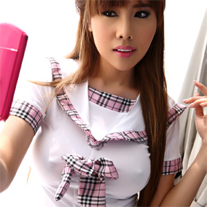 Aeko Jung Schoolgirl Fantasy
