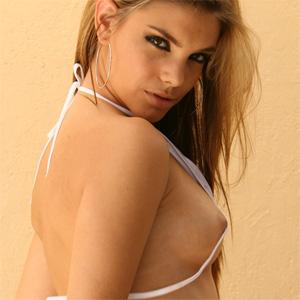 Alex Dane White Bikini