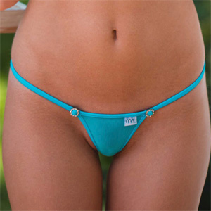 Amber Sym Blue Bikini