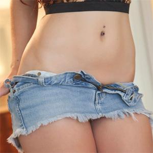 Amber Rouge Denim Skirt