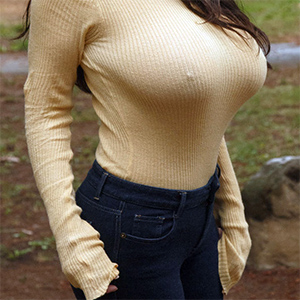 Angela White Perfect Sweater Boobs
