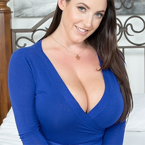 Angela White Pulls Her Big Boobs Out In Bed
