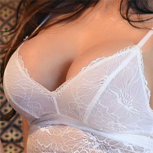 Ann Denise White Lace Boobs