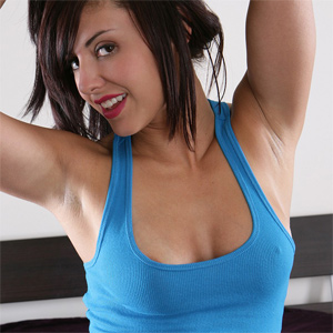 Autumn Riley Blue Tank Nude
