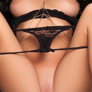 Brittney Shumaker Black Lace Panties