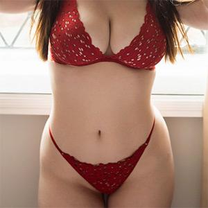 Brookie Little Looks Great In Red