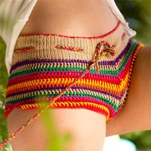 Capri Anderson Rainbow Panties