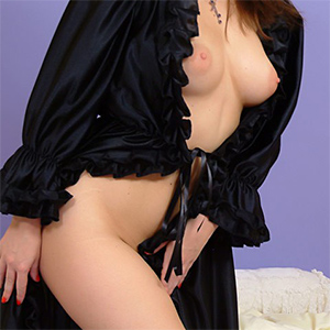 Carla Brown Black Robe PinupWOW