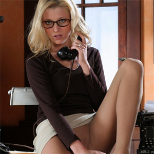 Carli Horny At The Office