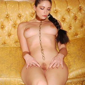 Carlotta Champagne Slave Leia Dress