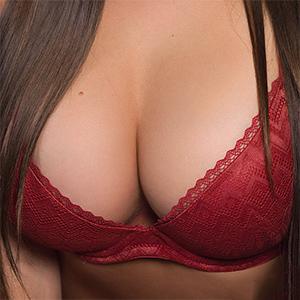 Chelsie Aryn Red Lingerie Curves