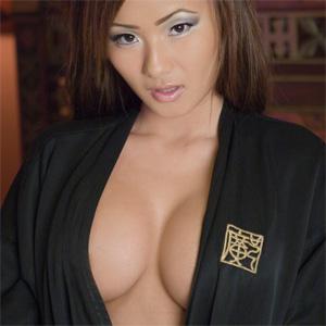 Cristal Vang Silk Robe In Bed