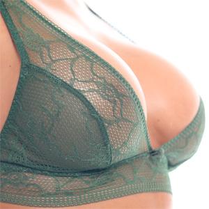 Dana Harem Busty In Green Lingerie