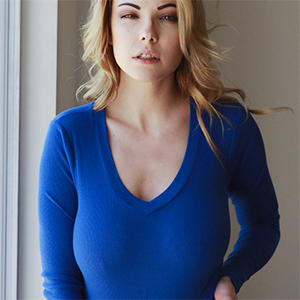 Elizabeth Marxs Blue Sweater