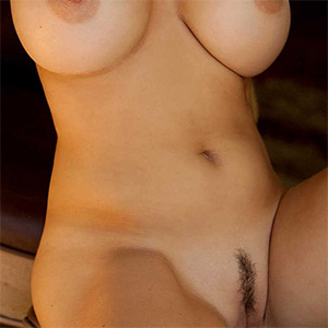 Emesha Gabor Busty Playmate With Landing Strip